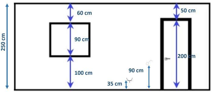 medidas altura en alzado